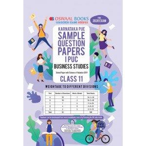 Oswaal Karnataka PUE Sample Question Papers I PUC Class 11 Business Studies Book (March 2020 Exam)