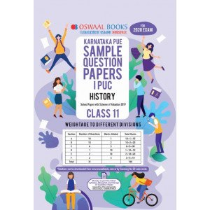 Oswaal Karnataka PUE Sample Question Papers I PUC Class 11 History Book (March 2020 Exam)