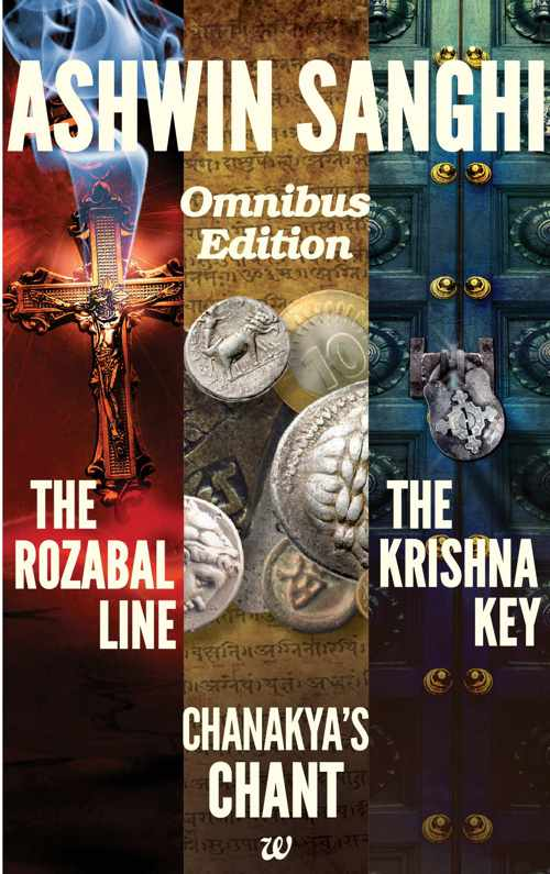 ASHWIN SANGHI BOX SET (THE ROZABAL LINE , CHANAKYA CHANT , THE KRISHNA KEY)