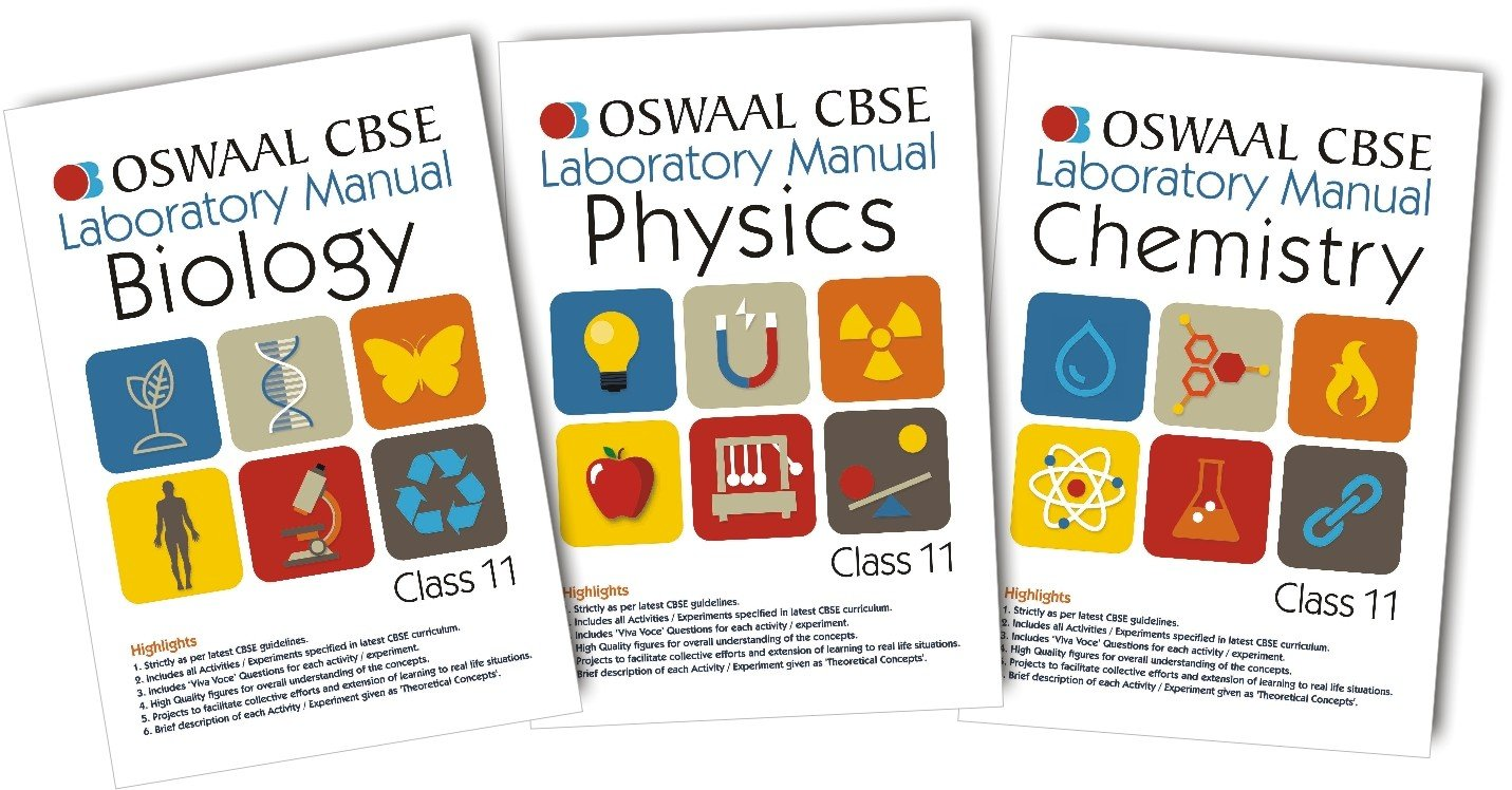 Oswaal CBSE Laboratory Manual Class 11 (Set of 3 Books ) Physics, Chemistry & Biology (For March 2020 Exam)