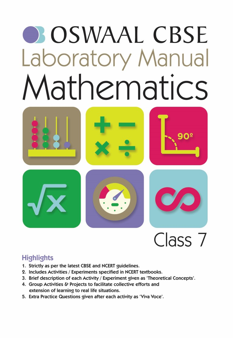 Oswaal CBSE Laboratory Manual Class 7 Mathematics Book (For March 2020 Exam)