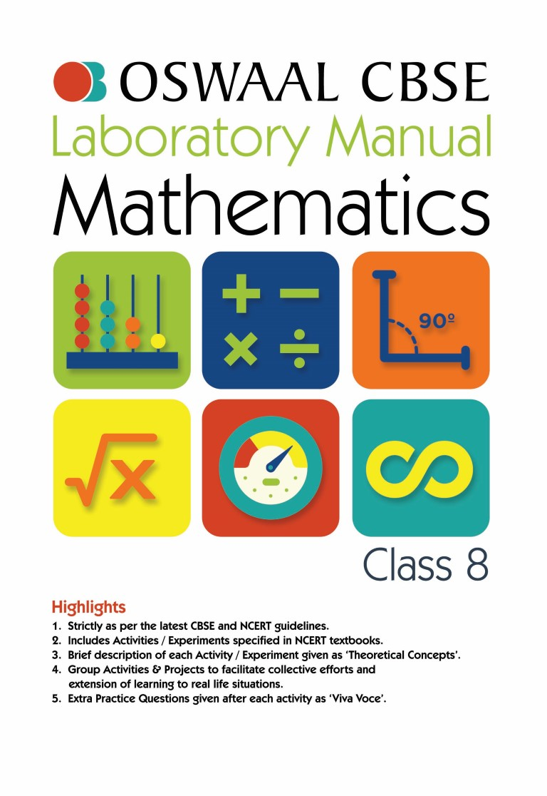 Oswaal CBSE Laboratory Manual Class 8 Mathematics Book (For March 2020 Exam)