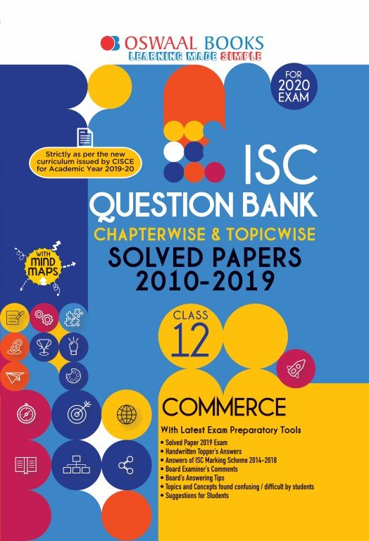 Oswaal ISC Question Bank Class 12 Commerce Book Chapterwise & Topicwise (For March 2020 Exam)