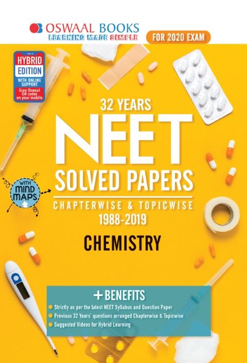 Oswaal NEET Question Bank Chapterwise & Topicwise Chemistry Book (For March 2020 Exam)