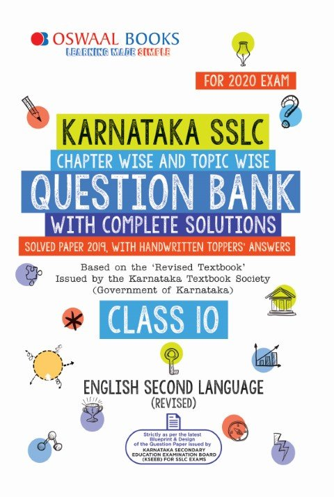 Oswaal Karnataka SSLC Question Bank Class 10 English IInd Language Book Chapterwise & Topicwise (For March 2020 Exam)
