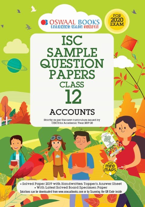 Oswaal ISC Sample Question Papers Class 12 Accountancy Book (For 2020 Exam)