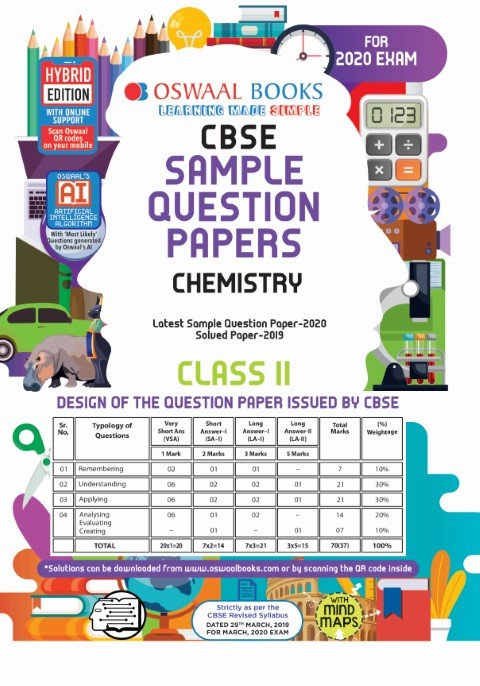 Oswaal CBSE Sample Question Paper Class 11 Chemistry Book (For March 2020 Exam)